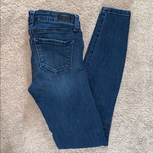 Regular rise skinny jeans